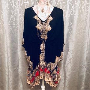 NWT FOREVER 21 BOHO BUTTERFLY DRESS/TUNIC